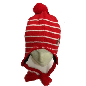 Hat Red with White Stripe
