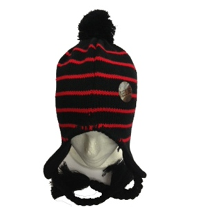 Hat Black with Red Stripe