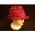 Hat Leopard Print Red