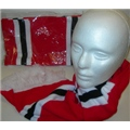 Scarf Red-White-Black
