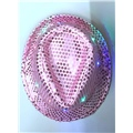 Hat Sequins Pink Light Up