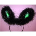 Light Up Bunny Ear Black
